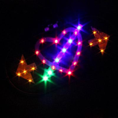 美蒂亚 汽车摩托车助力车改装彩饰灯一箭穿心彩灯 led