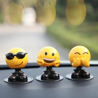 【创意男女汽车摇头表情可爱车载大全搞笑莉萝gif图片包表情摆件图片