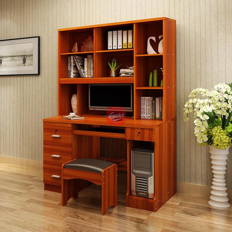 臻享家 电脑桌书柜衣柜一体双门三门连体衣柜台式家用