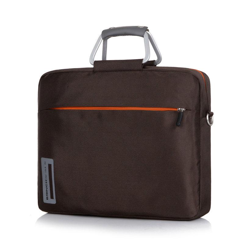 英制(BRINCH) 联想戴尔华硕宏基惠普HP DELL15.6寸15寸男女手提单肩笔记本电脑包公文包BW-127加大(棕色)第2张商品大图