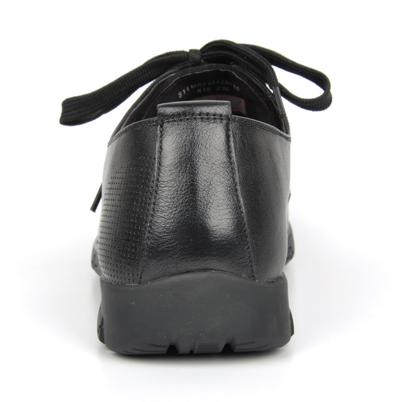 意尔康春秋款男系带低帮单鞋舒适百搭真皮皮鞋韩版商务休闲潮61342(橙红 61342 43)第5张商品大图