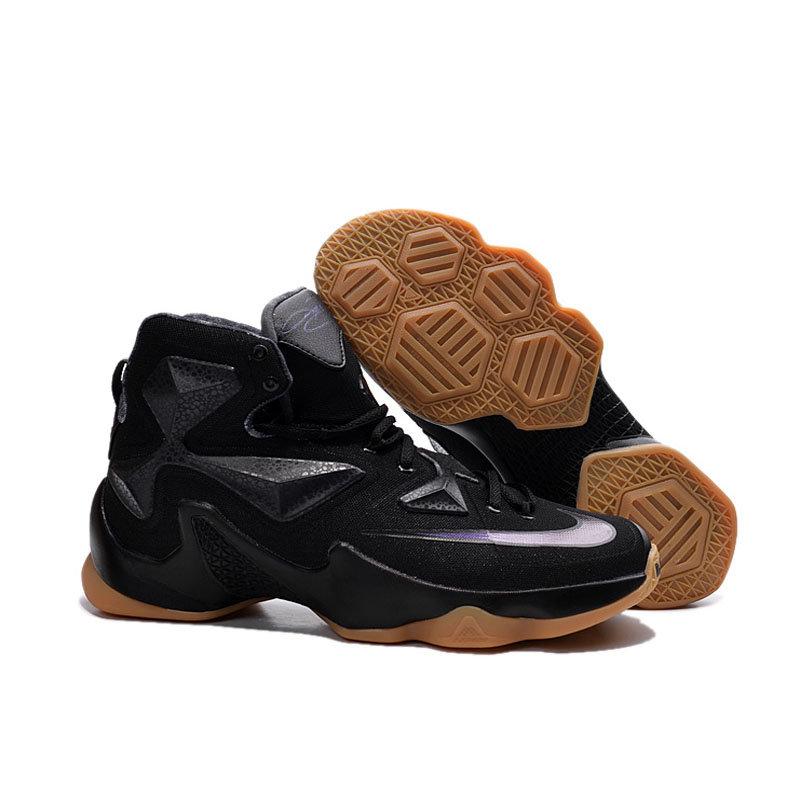 专柜耐克NIKE 詹姆斯13代全明星战靴 精英高帮气垫圣诞版战靴篮球鞋(黑骑士 41)第4张商品大图
