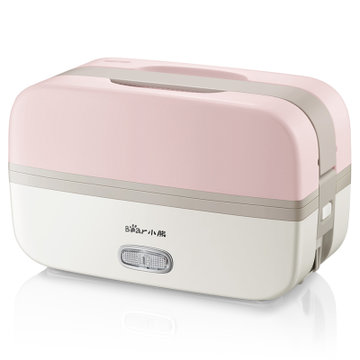 Bear 小熊 电热饭盒 DFH-B10J2  蒸饭热饭神器 双层1L不锈钢内胆 粉色 139元